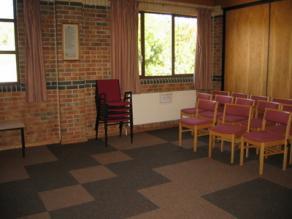 Room behind worship area